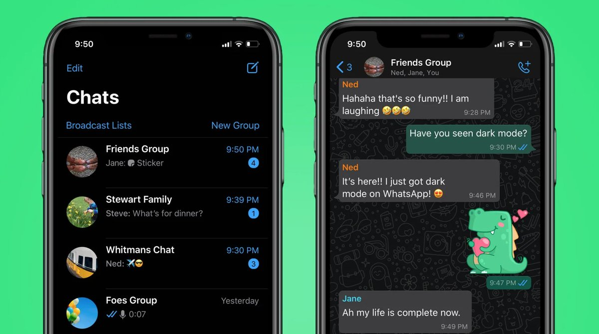 How to enable WhatsApp's new dark mode on iOS and Android