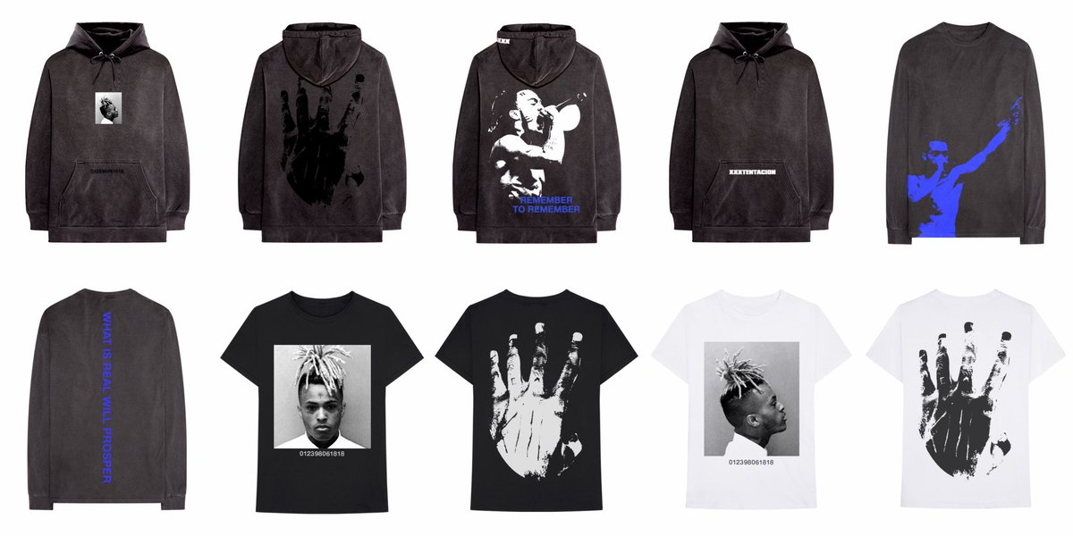 """xxx - fanpage on Twitter: """"New official xxxtentacion merch at  https://t.co/jkSfdEAF1Z prices ranging from $40 - $80… """""""