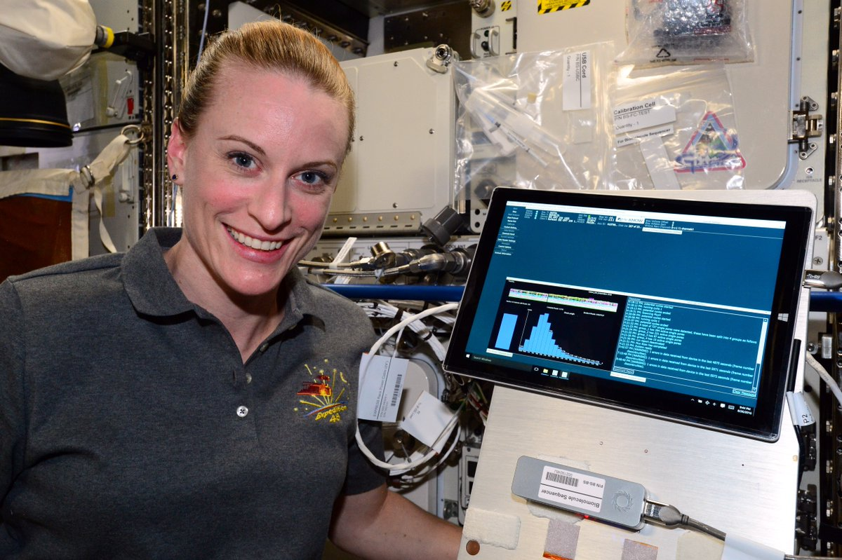 New news from iss_research During #WomensHistoryMonth, we are looking back on some of the amazing things women have accomplished on the Space_Station. First up: #AstroKate, the first person to sequence DNA in space in 2016! https://t.co/xzB04uirg2 https://t.co/OrULv2DCGD
