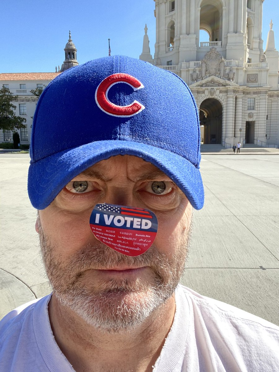 I wanted to be a winner so I geared up and went to Pawnee to vote #VoteWarren