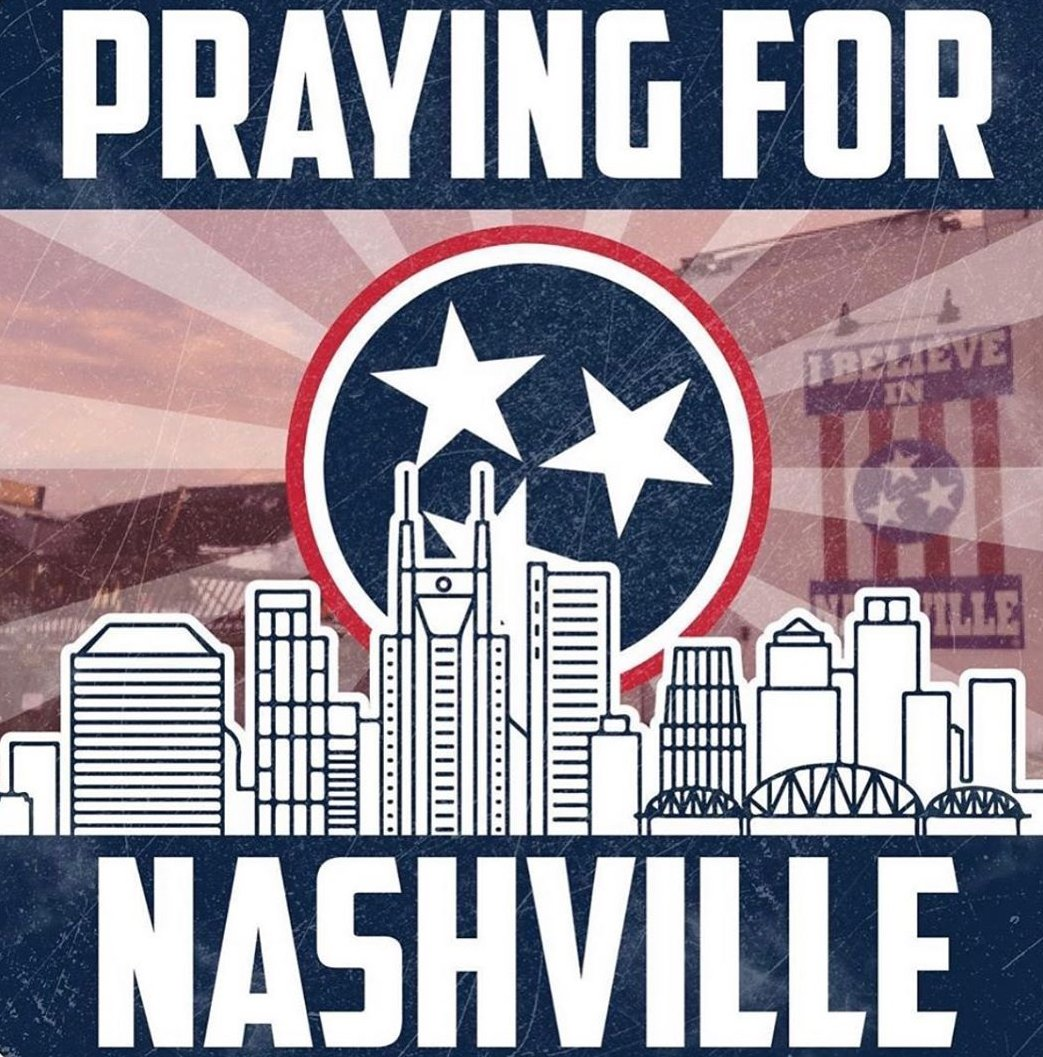 Sending love to all of our friends & family in Nashville and Middle Tennessee who were affected by the devastating tornadoes last night. Our thoughts and prayers are with those who have lost loved ones, homes and businesses. #NashvilleStrong #PrayersforNashville https://t.co/UaExP1YCM6