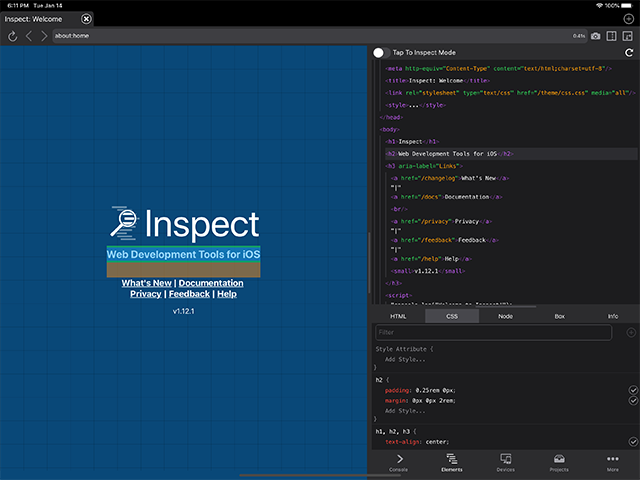 Inspect is the web dev tool for iOS we've been waiting for https://t.co/flernXWprM https://t.co/jWQMOyRr9Y