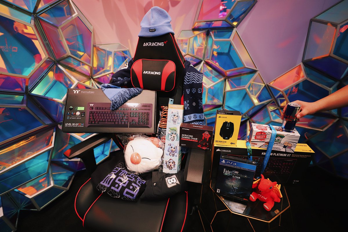 We wanted to do something special for those who couldn't attend PAX East with us.   RT + follow us by 3/8 for a chance to win everything pictured (yes, gaming chair IS included) https://t.co/LWzqQrthzH