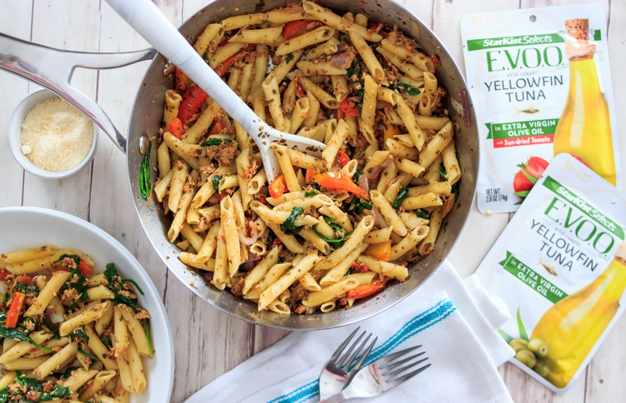 So, you're stocked up on StarKist. Now what? 🧐   We'll be sharing our favorite recipes in the coming days to help inspire your meals.    To start, here is some #MondayMotivation for a family-friendly #recipe: Tuna & Basil Pesto Pasta!