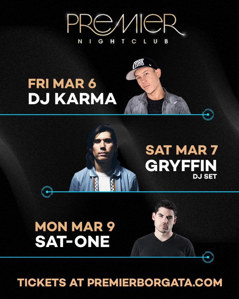 Countdown to the weekend begins NOW with @DJKarmaLV , @gryffinofficial , & Sat-One! 💃 Reserve your table today. 609.317.7249 https://t.co/QFe1d3kGUN
