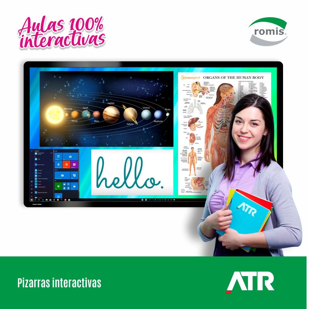 Pizarras digitales interactivas ATR: Diseñadas para aprovechar las posibilidades dinámicas de la clase ayudando a profesores y maestros a construir un ambiente de aprendizaje conveniente y atractivo. LED 4K, 20 puntos de contacto y pueden operarse con Windows o Linux. https://t.co/0pwh9clCMu