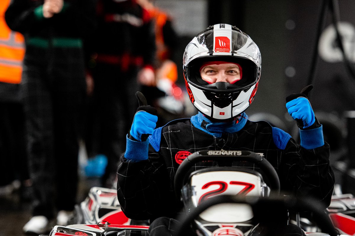What do you do when it's been three days since you raced and you're itching for some track action? If you're @thereal_JDA you head to the electric go-kart track in London and go head-to-head with our brilliant social media competition winners 🏎 https://t.co/j3cD3ASQdi