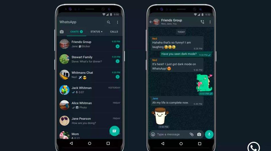 WhatsApp finally has dark