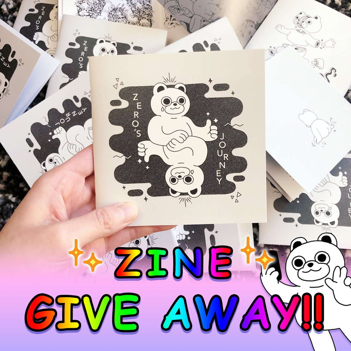 GIVE AWAY  Zero's Journey: collection of 31 drawings from #inktober2019!    TO ENTER  RT this post   1 winner will be chosen @ random on Saturday March 7 Bonus prizes if you're a follower  will be for sale later this month @ http://rudetude.storeenvy.compic.twitter.com/hHenti2R19