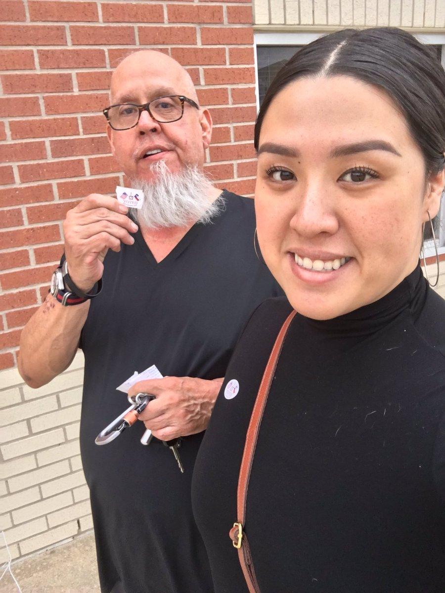 Made my dad go vote with me ✌🏼 #Hemmenwayallin #cfisdspirit @SuptMarkHenry #votingisimportant