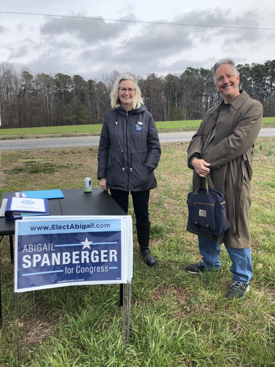 What a SUPER day at the polls meeting neighbors, seeing old friends and collecting signatures for @SpanbergerVA07 @MarkWarnerVA. We are fired up and united to vote for @vademocrats up & down the ballot in Nov. #VASEN #VA07 #supertuesday<br>http://pic.twitter.com/RVqlty95sY