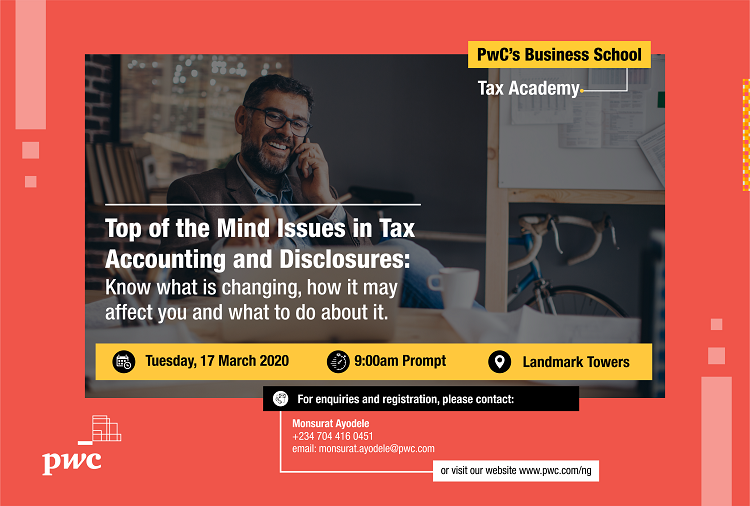 """#TaxAcademy March edition will discuss """"Top of the Mind Issues in Tax Accounting and Disclosures: Know what is changing, how it may affect you and what to do about it"""". To keep abreast of the changes, register here:  http:// ow.ly/v9Qk50yCnFJ    <br>http://pic.twitter.com/TKUboZ9VeP"""