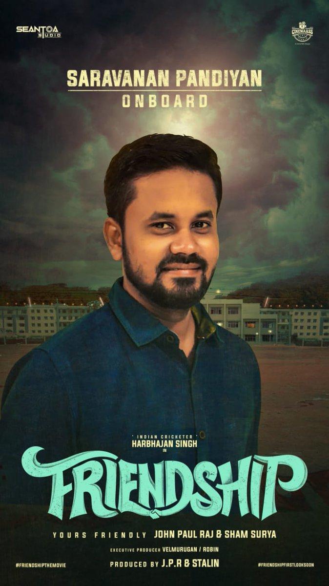 The new addition to the cast of @harbhajan_singh 's #Friendship Movie is Tamil Teacher & Manager of #Bhajji - @ImSaravanan_P his Second movie after #dikkiloona  @RIAZtheboss @V4umedia_ @akarjunofficial @shamsuryastepup @actorsathish @ctcmediaboy @CinemaassS #Losliya #LosliyaArmy
