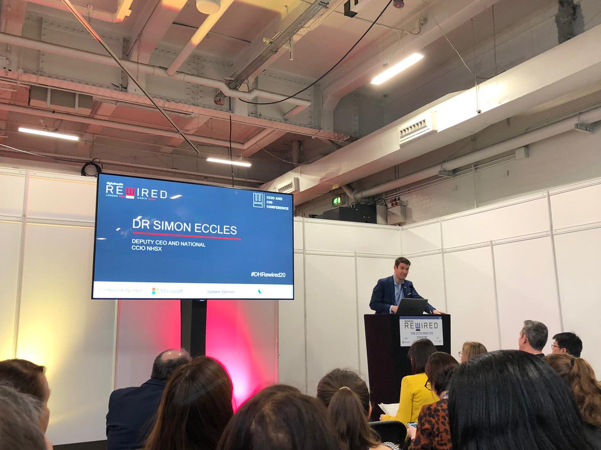 test Twitter Media - Simon Eccles, Deputy CEO and National CCIO @NHSX talking about building a digital ready workforce. An interesting distinction, instead of talking about digital transformation, the emphasis must be on the transformation of care through digital technologies. #DHRewired20 #NHS https://t.co/HvtjGhZKS7
