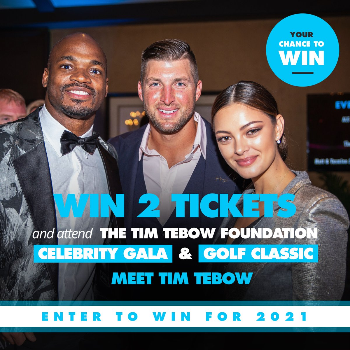 Don't miss your chance to win a package to the 2021 Celebrity Gala & Golf Classic, inclusive of two tickets to the exclusive Celebrity Gala and meet @TimTebow!   Enter Now: http://bit.ly/TTF-RAFFLE or  TEXT 'Movement' to 855-202-2100  #TIMTEBOWFOUNDATION #TPC #SAWGRASSpic.twitter.com/JIxQNOjSMA