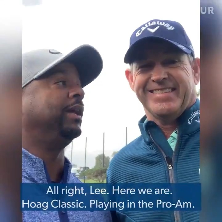 Time to get after it, gents! @alfonso_ribeiro playing with @LeeJanzen in @HoagClassic Pro-Am.