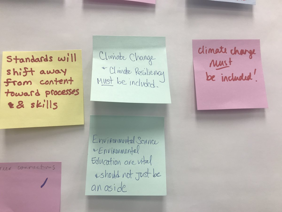 Here are some 'Hopes' for the new standards that participants submitted.