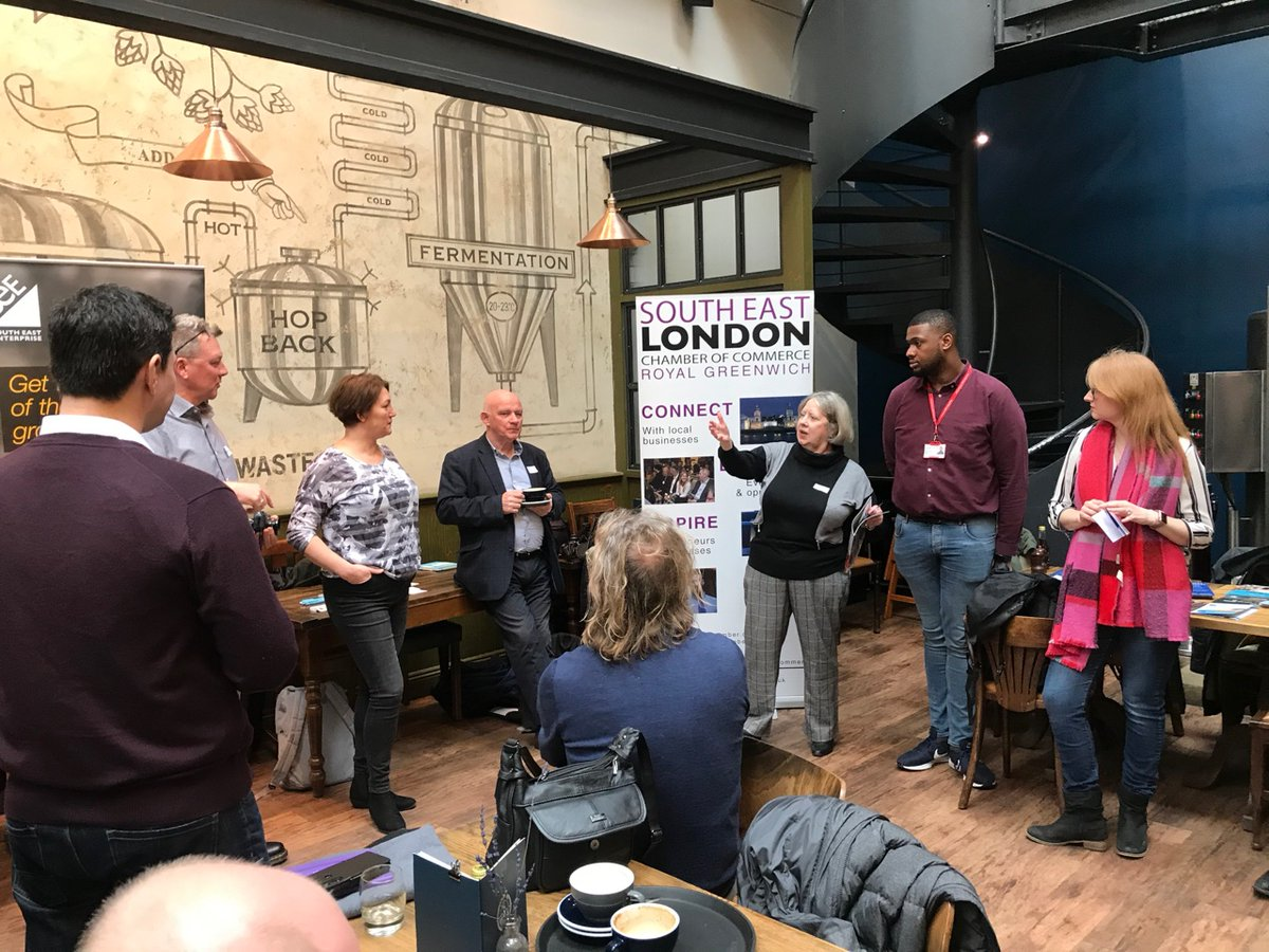 Today I was delighted to attend & speak on behalf of the Chamber at a Pilot Event for a brand new #networking event   Introducing #GreenwichConnect   This morning with @warrenkingphoto @SolutionsRobin !  Thanks @OldBrewery for hosting us so generously!  Here's to many more https://t.co/8WHBTqT6iV