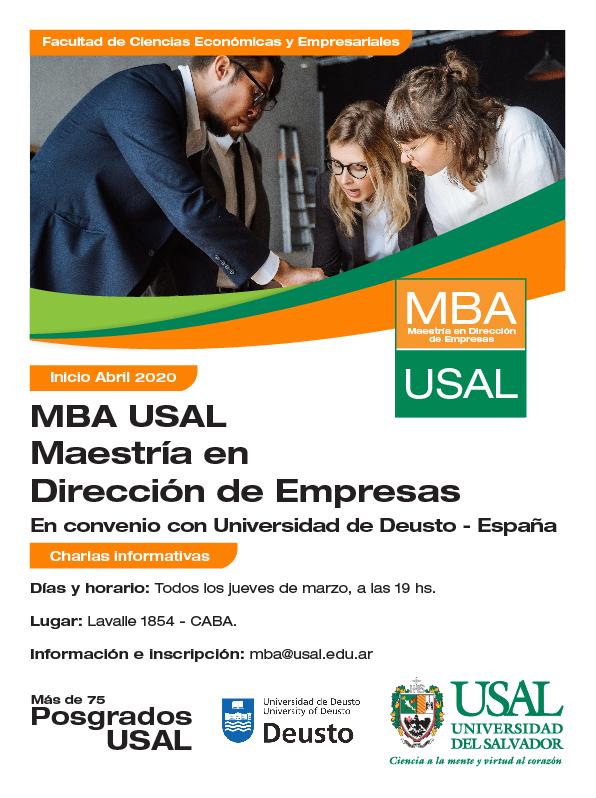 #USALIZATE – Charla Informativa ¡Conocé más sobre el MBA USAL! ➡ https://t.co/NtwiCjBR0N 🗓 05/03 – 12/03 – 19/03 y 26/03 - 19 hs. Lavalle 1854, CABA mba@usal.edu.ar https://t.co/0GLidIzjRz