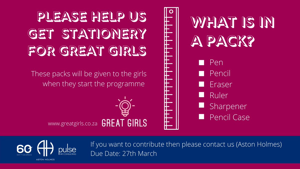 test Twitter Media - Kicking off Human Rights Month with a stationery drive for the Great Girls Organization. Please contact us if you want to get involved!  #Education #EducationIsPower #EmpoweringWomen #FutureLeaders https://t.co/QDfL4A2xji