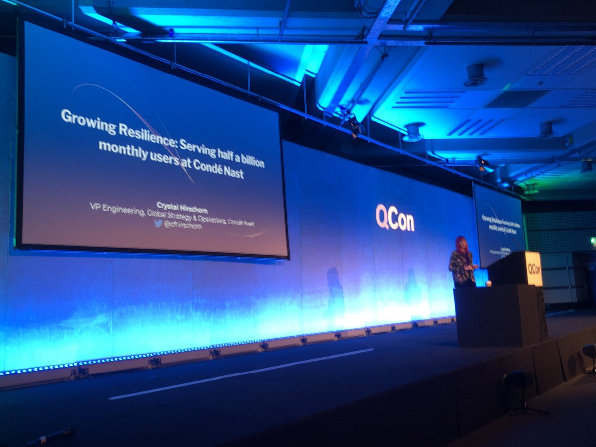 I am SO excited for this talk. @cfhirschorn represents how *every* software VP should be thinking about and separating chaos engineering an resilience engineering. #qconlondon