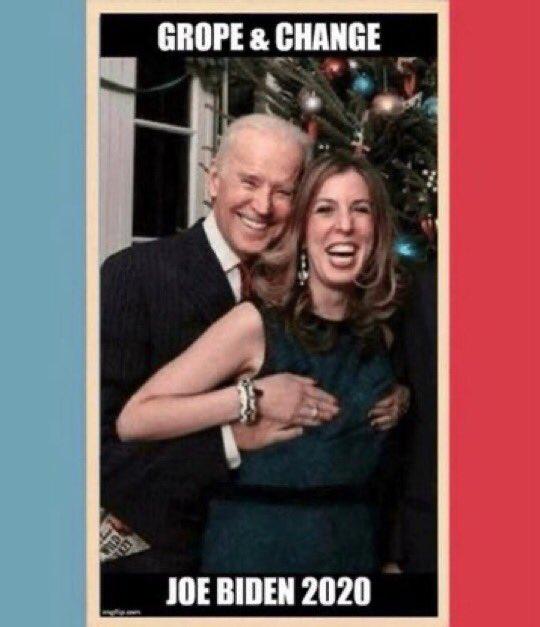 Biden has promised to stop molesting women and children