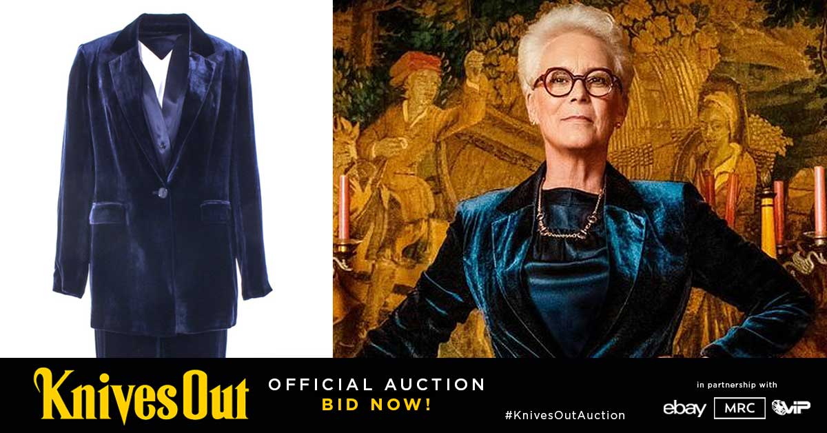 Knives Out Auction - New items at the #KnivesOut auction feature Linda's (Jamie Lee Curtis) screen-worn wardrobe and other props from the movie. Bid now at http://www.knivesoutauction.com #KnivesOutAuction