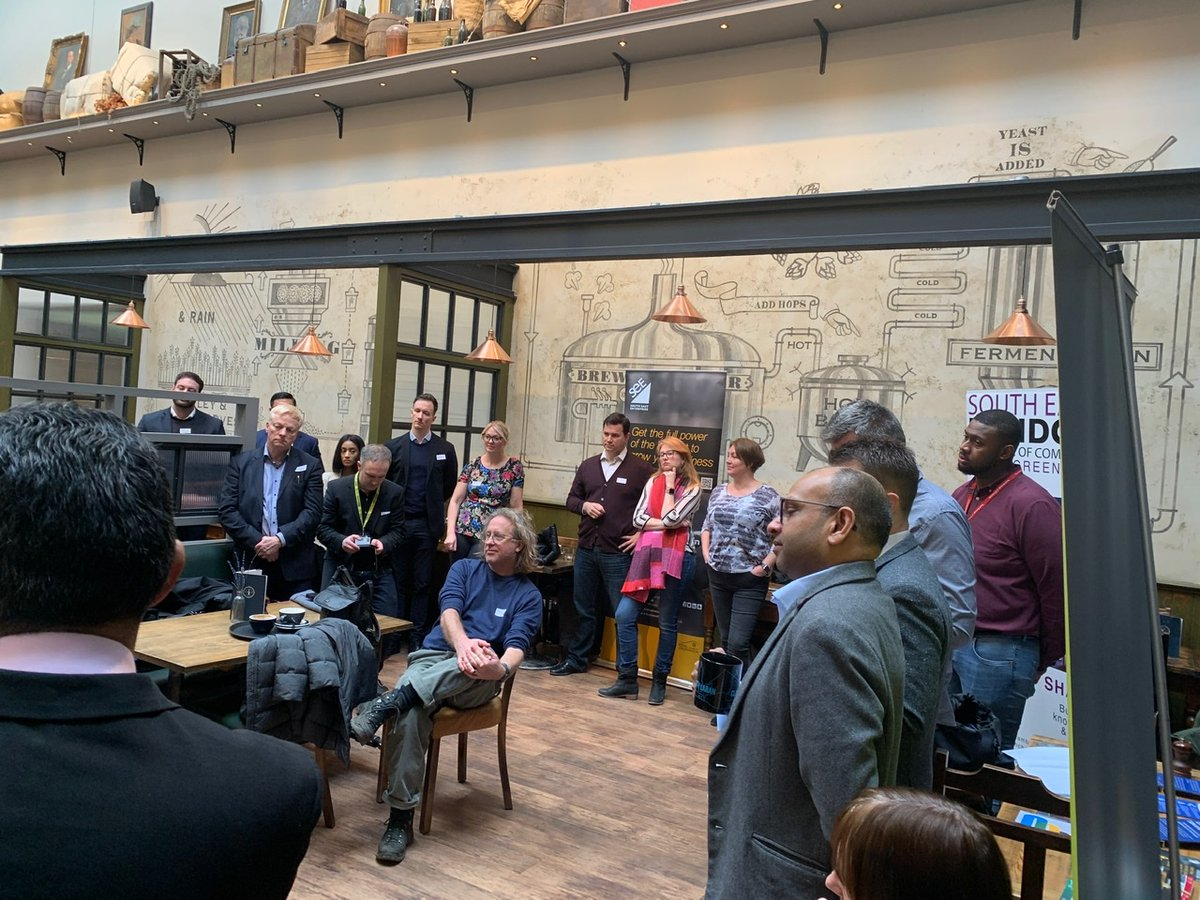I joined @warrenkingphoto @273K_Design @SolutionsRobin and @SocialMatrixHub for a brilliant new networking event this morning. Lovely venue @OldBrewery and lots of local businesses. It's rare to go to a networking event and not want to leave! #GreenwichConnect #GreenwichHour https://t.co/R9NDNHnYiJ