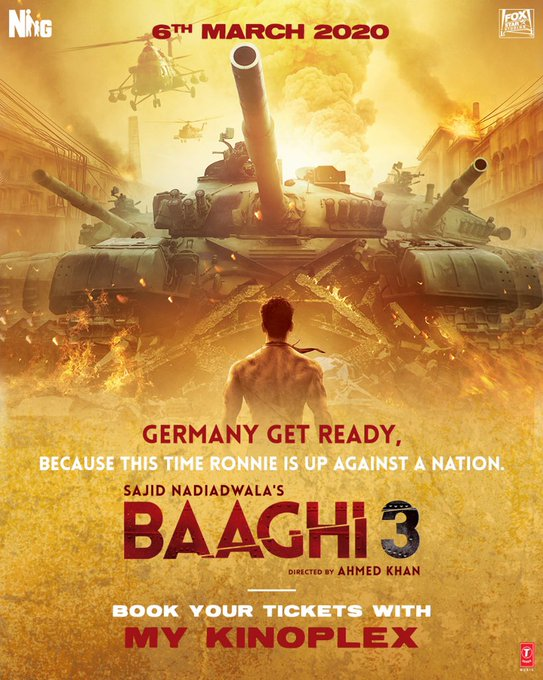 Ronnie is fighting his greatest battle. Are you ready to watch the explosive #Baaghi3 in cinemas this