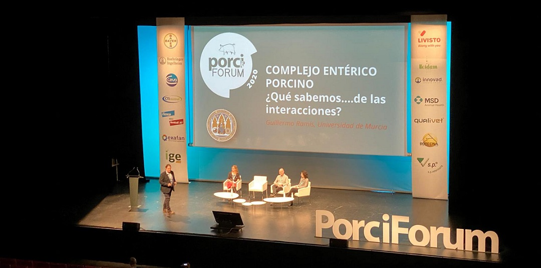 En la sala de Patología de #Porciforum2020, Guillermo Ramis, (Veterinario y Profesor Titular Universidad de Murcia) ha realizado una magnífica ponencia sobre sobre Complejo Entérico Porcino 👏👏 https://t.co/snYq0ZVfqP