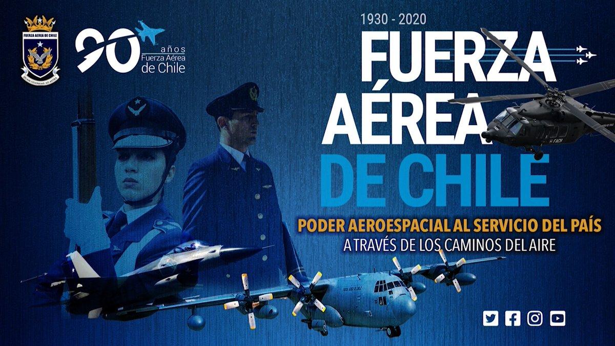 Durante sus 90 años de vida, la Fuerza Aérea #FACh ha resguardado los cielos de , integrando y conectando el territorio nacional, siempre presente al servicio de todos los chilenos.  Nuestros #90años de historia aquí  https://youtu.be/X7IC4vDCDTQpic.twitter.com/GuBehbxKno
