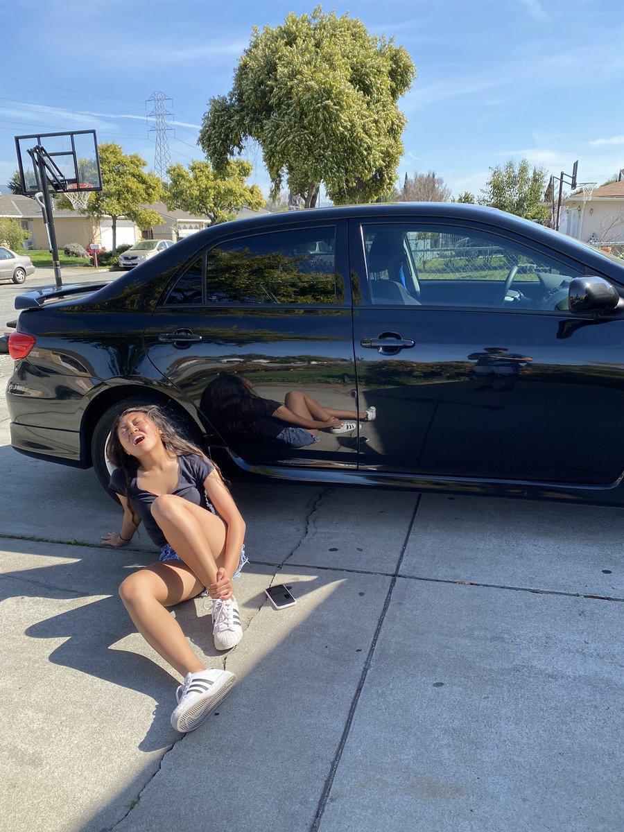 Lesbian Fucking The Car
