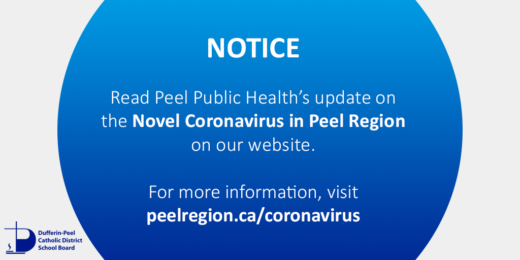 Dpcdsb בטוויטר Region Of Peel Public Health Has Provided Us With Updated Information Related To The Novel Coronavirus Covid19 In Peel Region Please Read The Latest Update Here Https T Co Nkndkdcfgq Visit