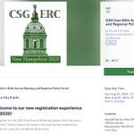 Image for the Tweet beginning: Registration for the 2020 CSG