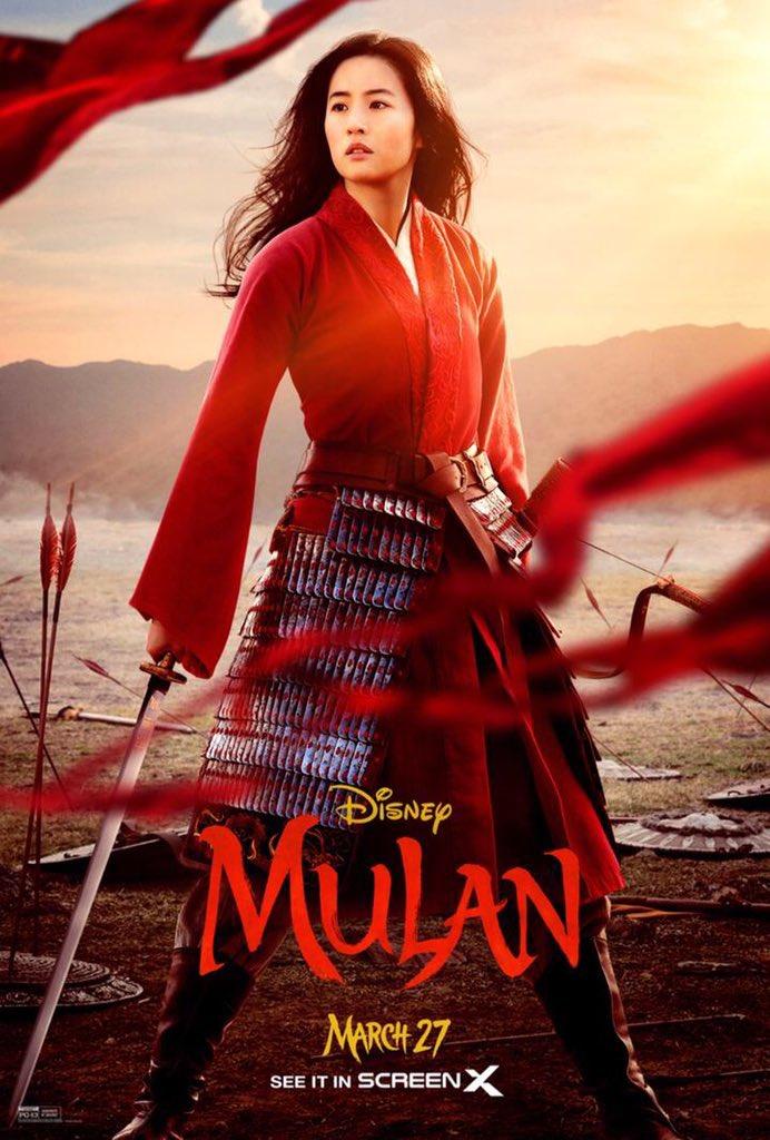 Disney libera novo pôster de Mulan com referência da animação - Quarto Nerd