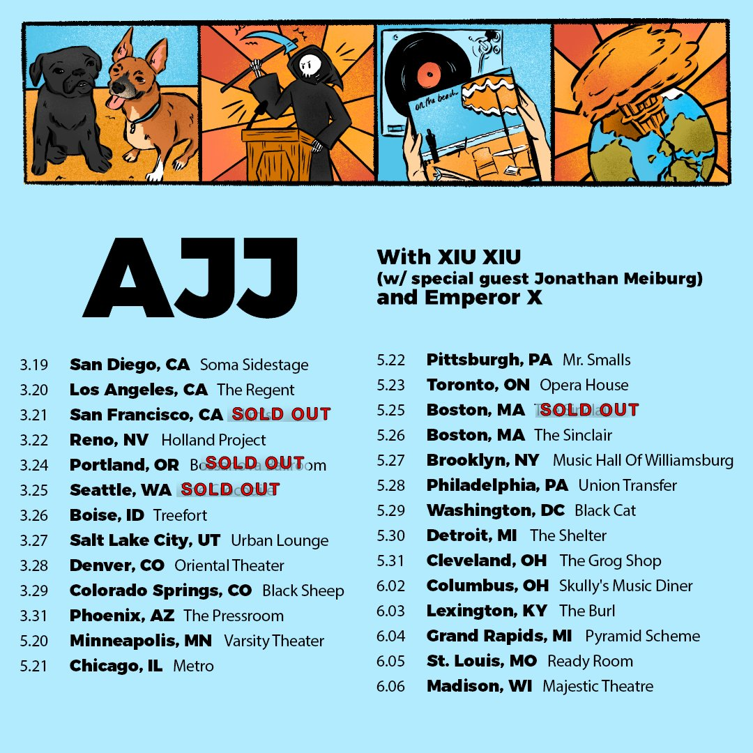 2 weeks away! Less than 10 tickets left for Reno! ajjtheband.com/tour