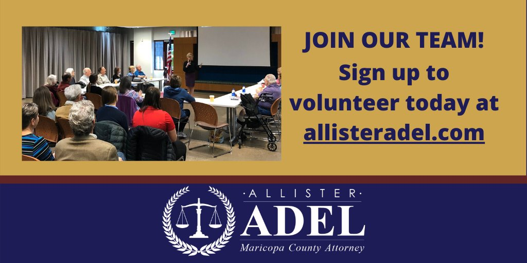 Have you signed up to volunteer? Click on the link to join our growing team! allisteradel.com