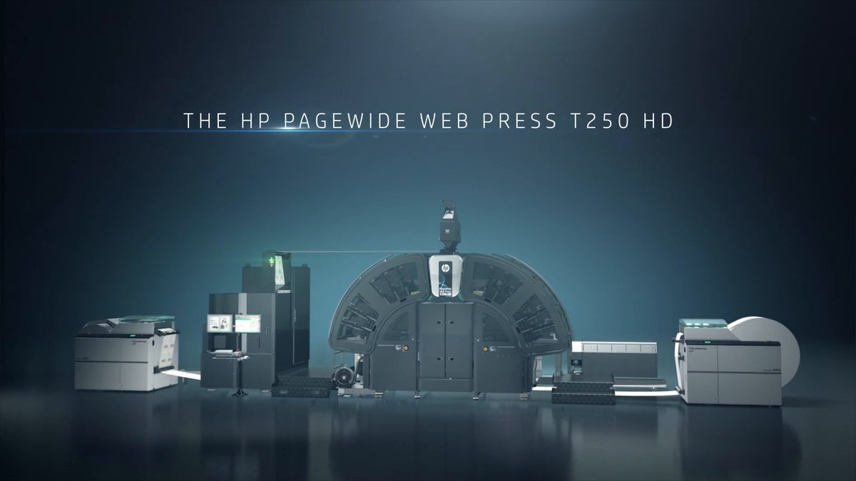 Image for the Tweet beginning: The #HPPageWide Web Press T250
