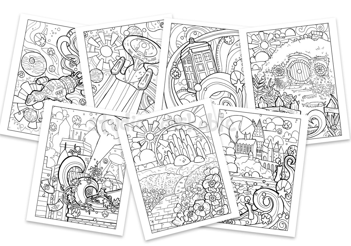 Lacey On Twitter Once Upon A Time I Had A Toxic Job So I Designed A Coloring Book During My Lunch Breaks Of Where I D Rather Be It Was My Happy