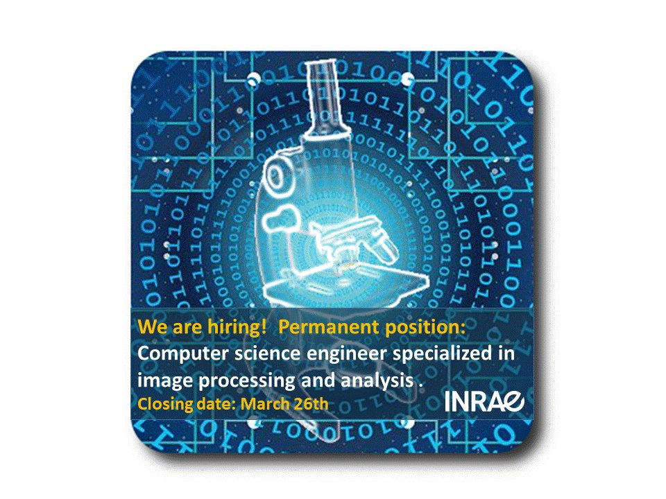 Please RT: We're hiring! A permanent position for a computer science engineer specialized in image processing and analysis is open in our MiN team https://t.co/8X2H75HJCc  Details and application procedure can be found at https://t.co/CDXwJilTb4 Application deadline: March 26th https://t.co/lvW5ADfDZf