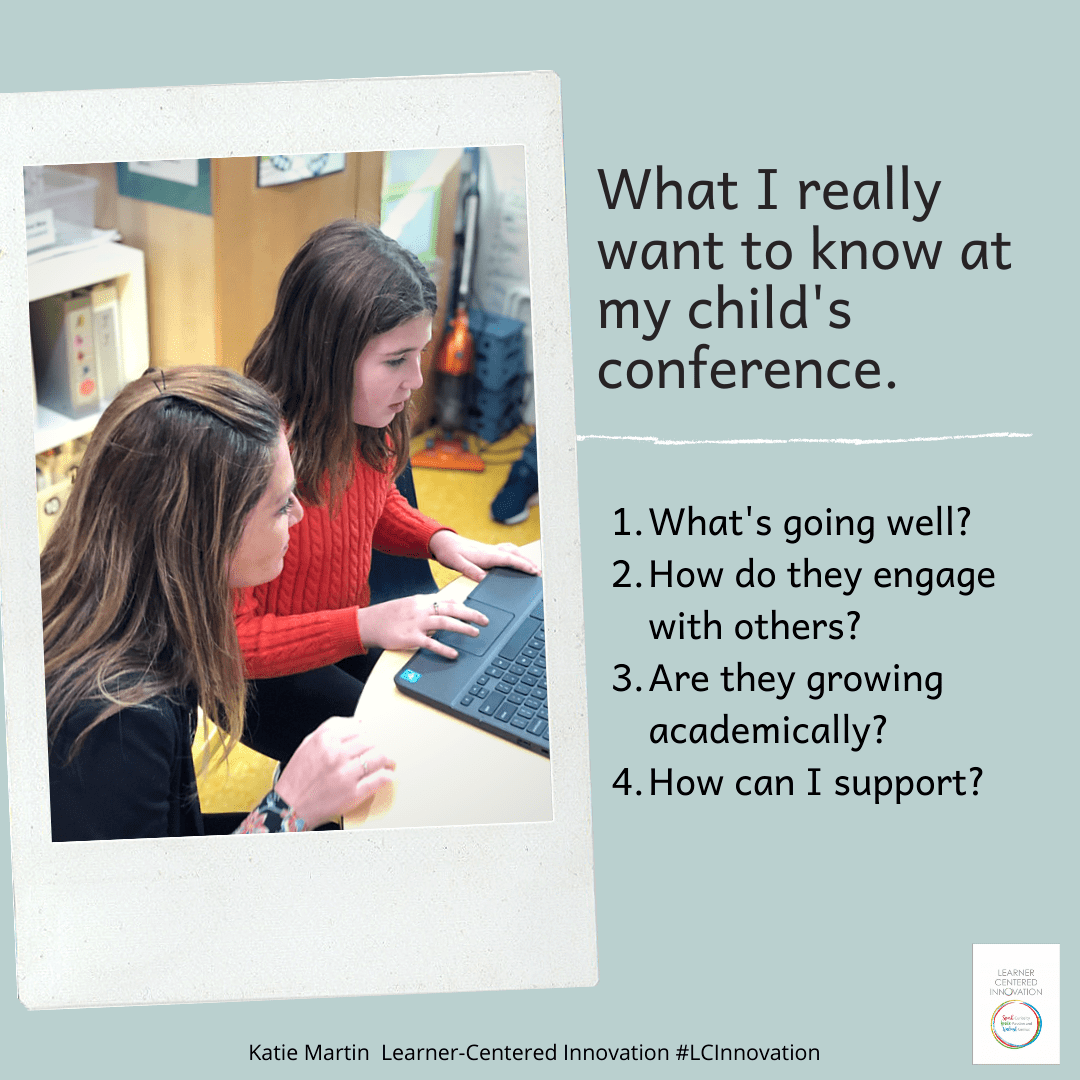 What I really want to know at my child's conference. Hint- It isn't their grades. https://t.co/RFmqIv8AND via @katiemartinedu https://t.co/epqXc7bs6U