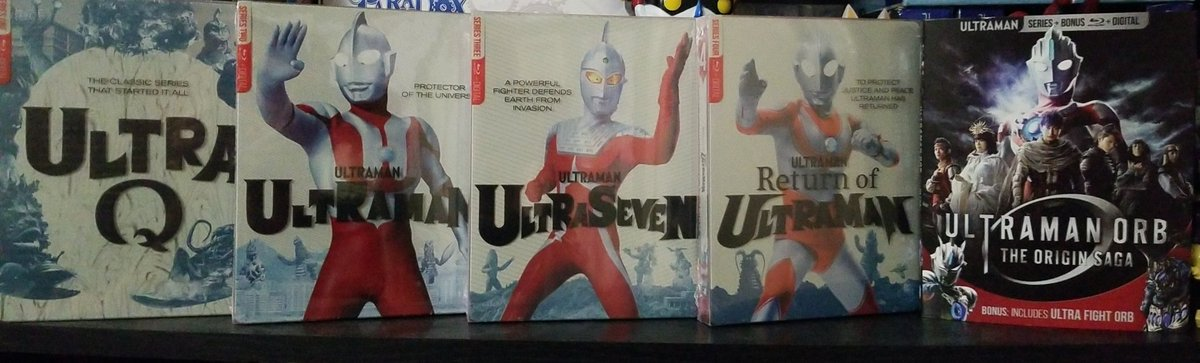 I am beyond happy that I am living in a time, where I can walk into a Best Buy, look into the bluray section, and buy Ultraman. ON BLURAY AND STEELBOOK! https://t.co/feSYEUq2AX