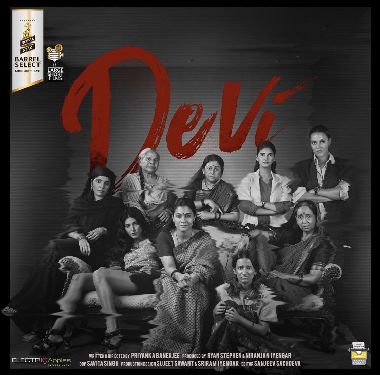 Movies influence societies by challenging audiences and transforming viewers opinion. A big shout out to the entire team of #Devi . May you continue to awaken our sense of responsibility towards such situations. @LargeShortFilms @itsKajolD @shrutihaasan @NehaDhupia @FarOutAkhtar