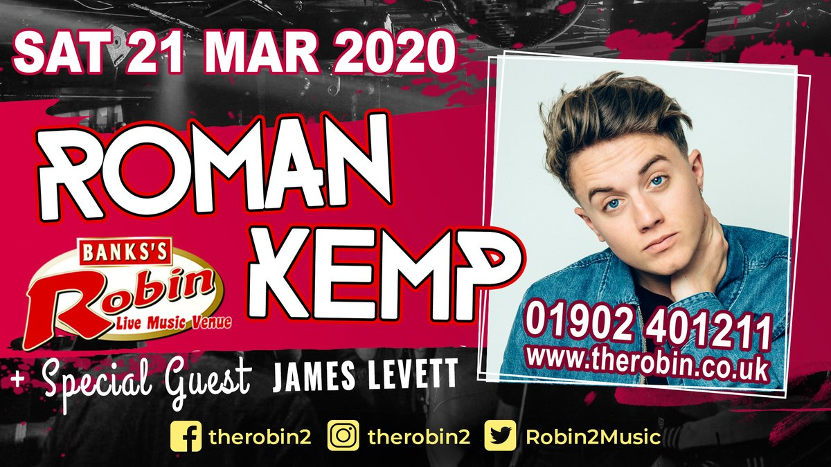 3rd place runner up on Im A Celebrity 2019 and @CapitalOfficial Radio DJ @romankemp is coming to The Robin on Sat 21st March playing all the sounds that make his Morning Show the most popular. @locotalent