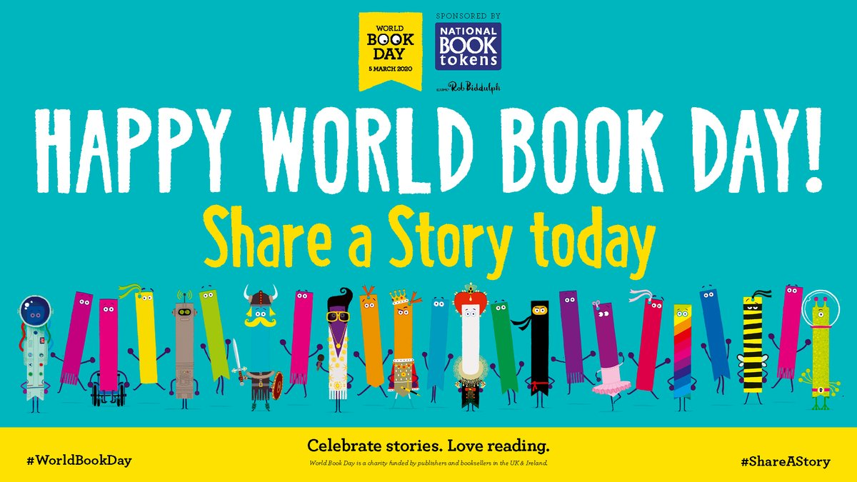 "World Book Day UK 📚 on Twitter: ""Happy #WorldBookDay everyone! 📚 Here's to a whole day dedicated to sharing stories and promoting reading for pleasure. Plus we need you all to help"