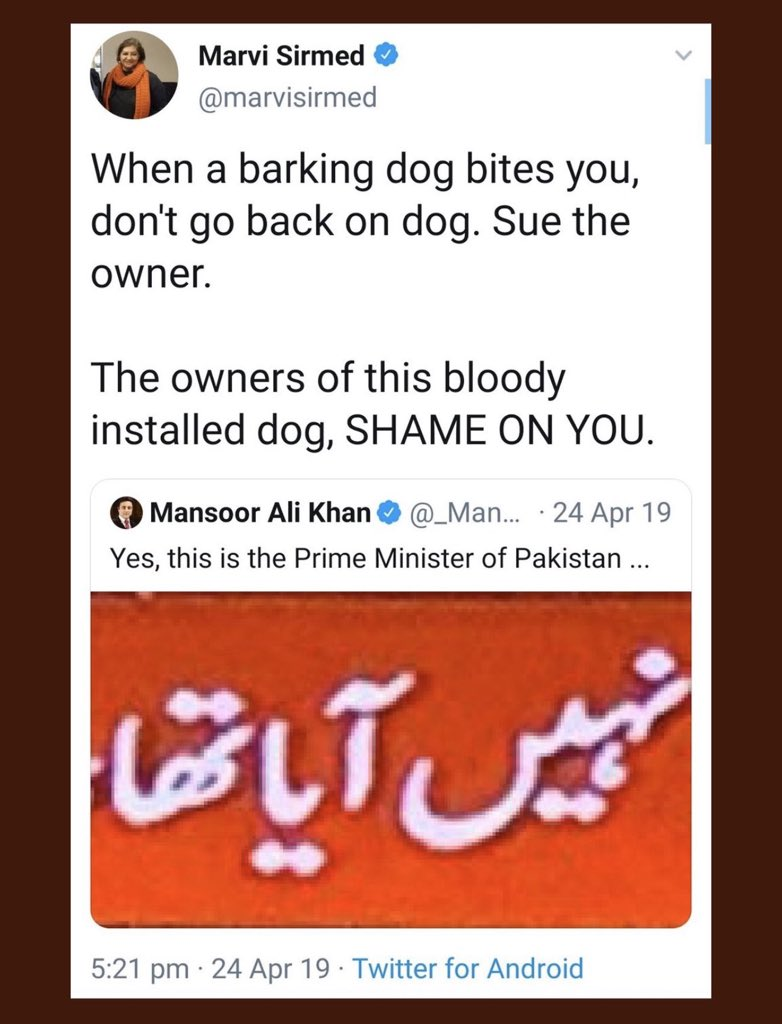 Diamond cuts diamond. Shame on you @marvisirmed. You deserve to be treated the way #KhalilUrRahmanQamar treated you. Woman should respect man & then expect the same. https://t.co/9lyc8S7Vnq