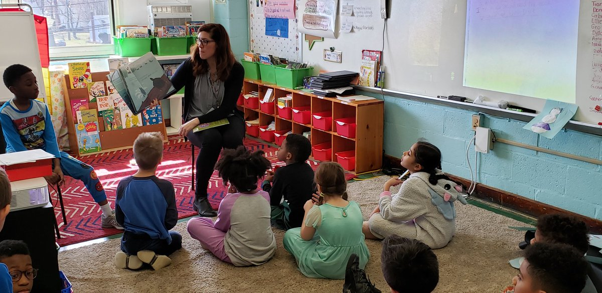 It is awesome to have a surprise guest reader come and share a story with the students. @WatershedPCS