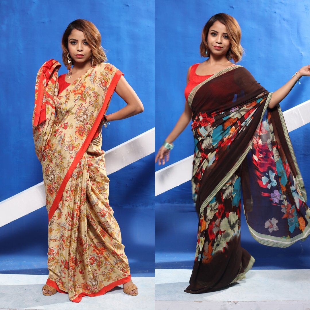 Comment down below and let us know which Floral Saree Look you  love most. Shop now and get up to 80% off. Featuring:- @bipasha_banikya18 Product ID - 3103301, 3139188 Product details & price - http://bit.ly/32OwqU3  . . #RelivIndia  #FloralSaree #Saree #Mirrawpic.twitter.com/PkCio8DRkc