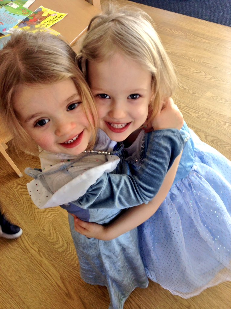 Two of our princesses in herons today.