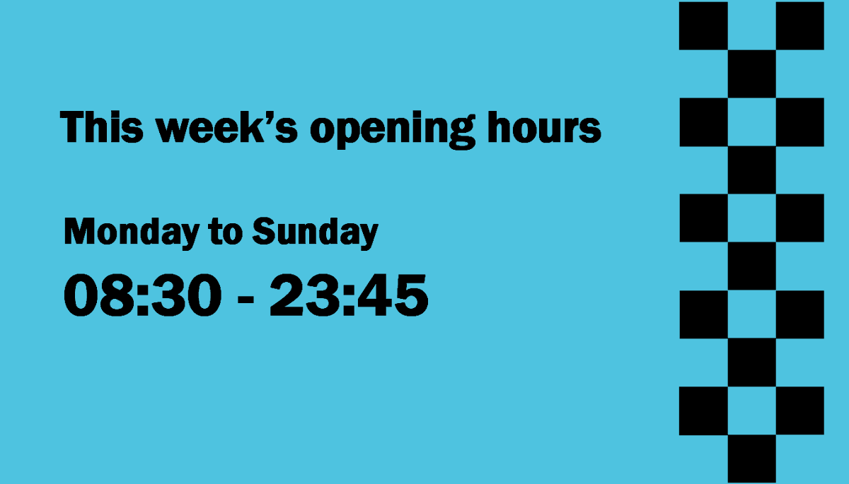 We hope to be able to stay open as normal tonight (and for the rest of the week) until 11.45pm